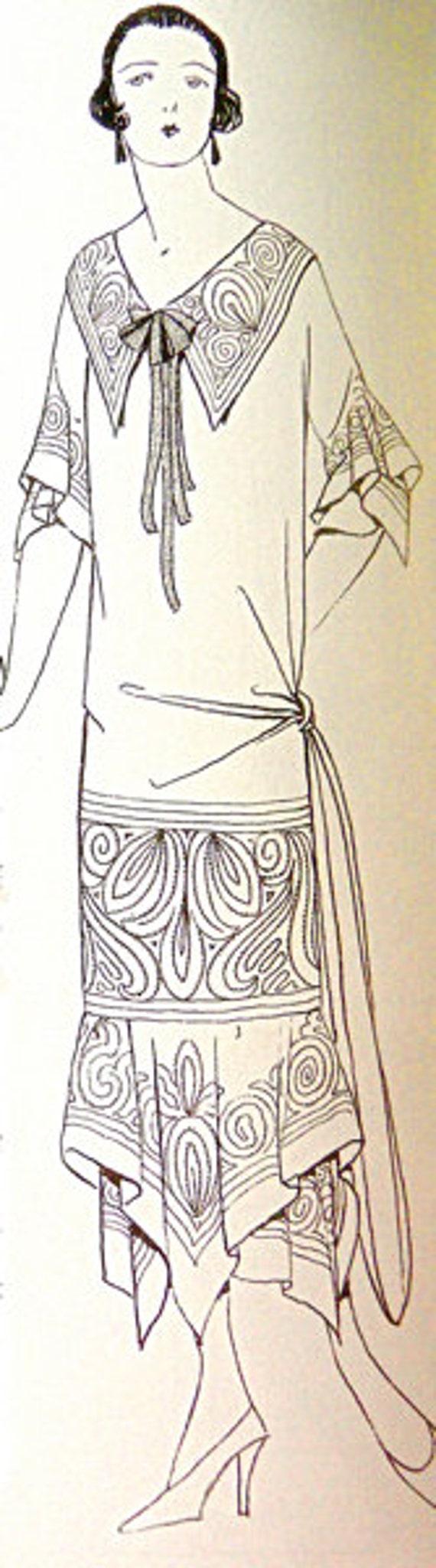 Patrón de la década 1920 para coser. Diseño natural y | Etsy