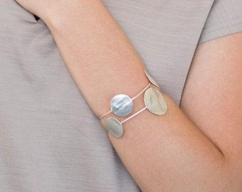 Silver Cuff Bracelet, Geometric Cuff Bracelet, Silver Cuff Bracelet, Cuff Bracelet, Bracelet Silver, Silver Adjustable Bracelet, Boho Cuff