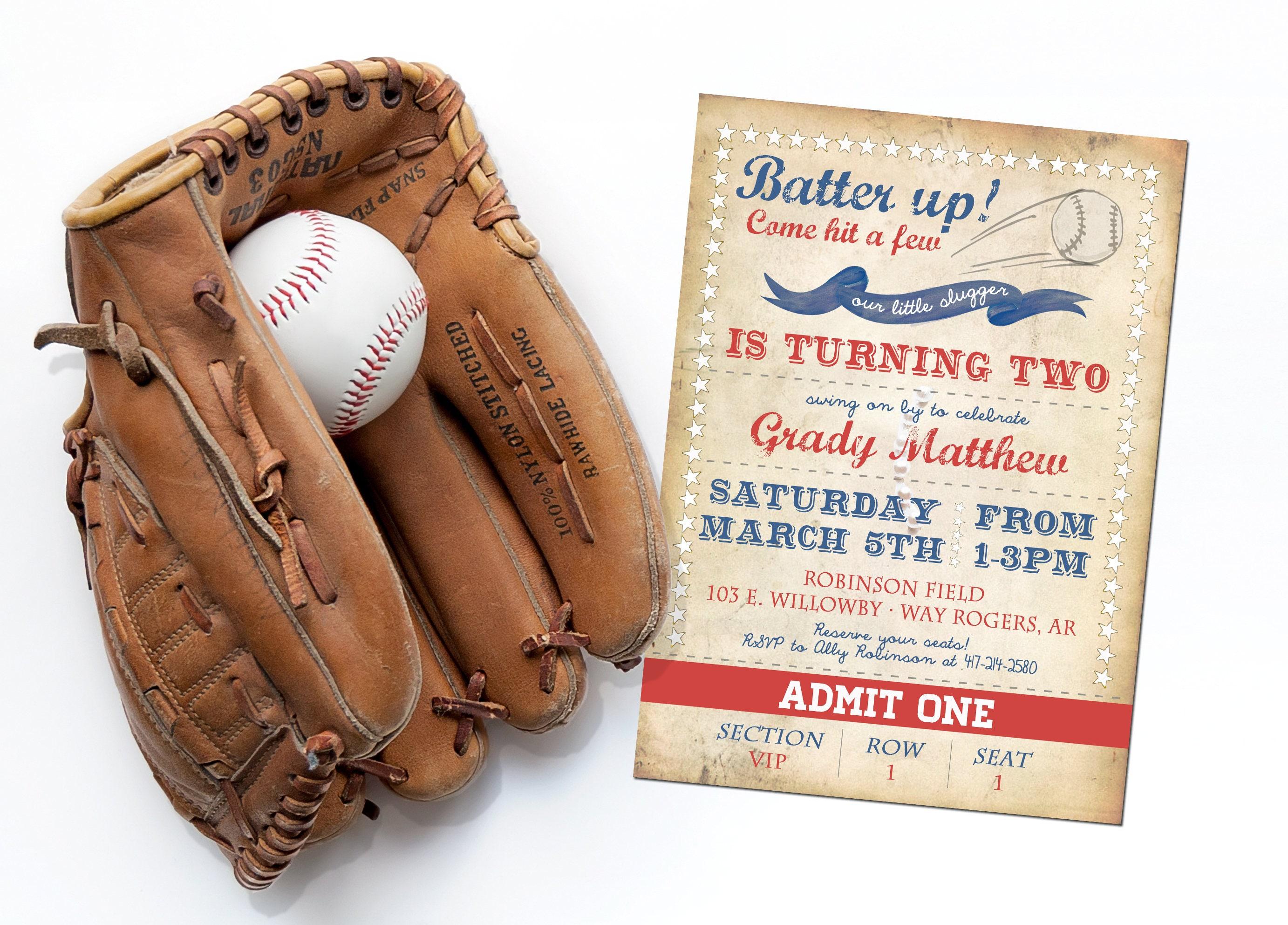 Baseball 2nd Birthday Party Supplies