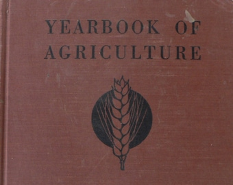 vintage book, Yearbook of Agriculture, 1937, USDA, free shipping, from Diz Has Neat Stuff