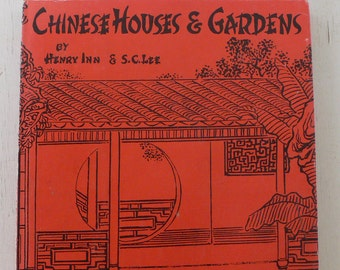 vintage book, Chinese Houses And Gardens, 1950, free shipping, from Diz Has Neat Stuff