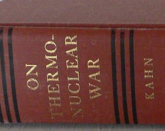vintage book, On Thermonuclear War, Herman Kahn, 1960, free shipping, from Diz Has Neat Stuff