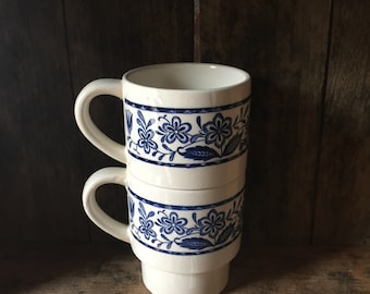 V i n t a g e  Floral Stacking Cups