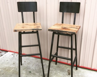 Hamilton Industrial Bar Stool