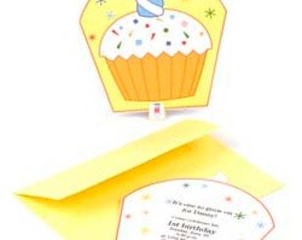Cupcake Birthday Invitation or Card