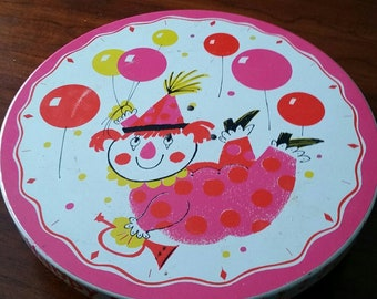 60s Revolving Musical Happy Birthday Clown Cake Stand By Fabcraft