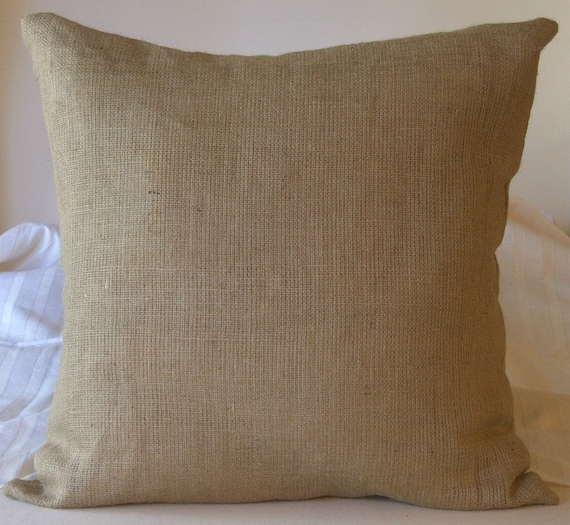 Burlap Euro Shams Pillow Cover 40 X 40 Lined For Etsy Awesome 28x28 Pillow Cover