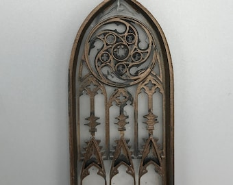 Gothic Cathedral Arch Ornament, Translucent