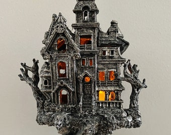 Haunted Mansion, with LED tea light