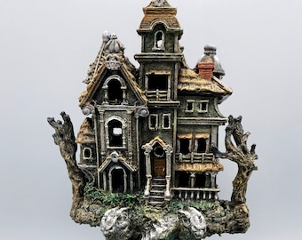 Haunted Mansion, with LED tea light, Full Color