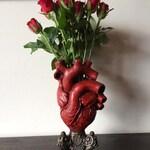 Anatomical Heart Vase, Red Finish