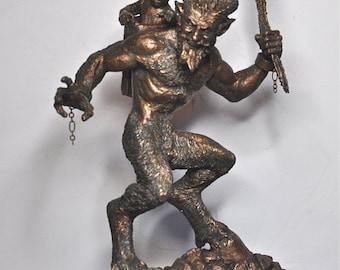 Krampus Statue I, Bronze finish