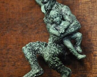 Krampus Ornament, version 2, green finish