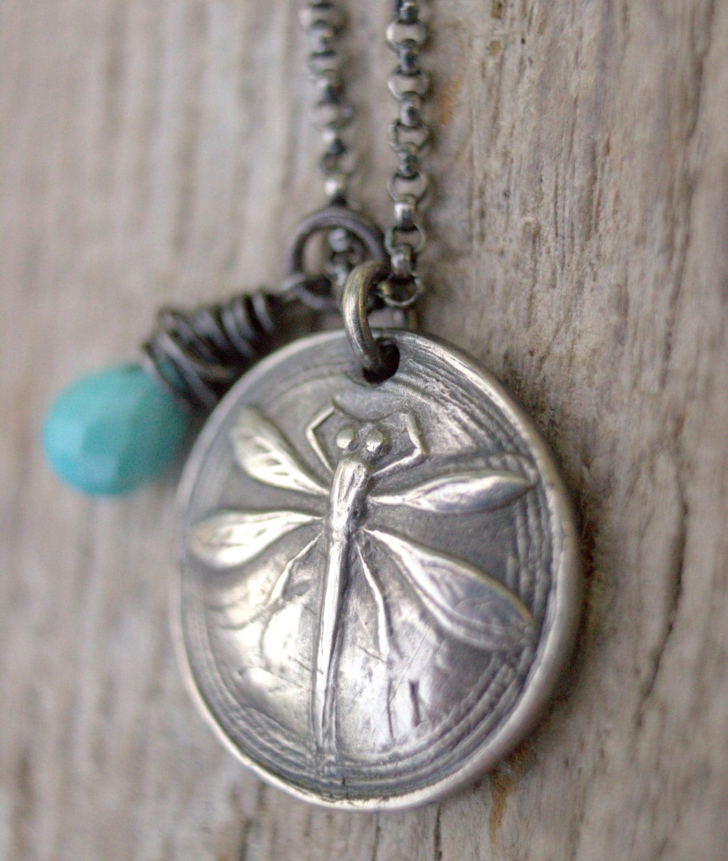 dragonfly necklace girls birthstone necklace december etsy. Black Bedroom Furniture Sets. Home Design Ideas