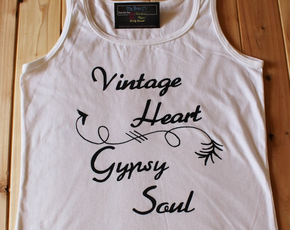 Vintage Heart, Gypsy Soul, Tank Top, Arrow, Junk, Vintage, Gypsy, Boho