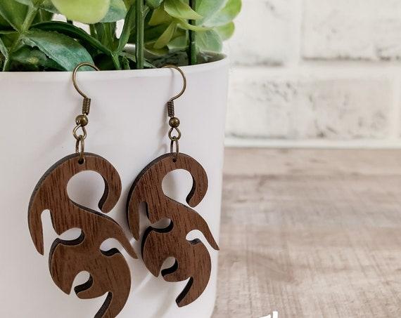 Cara Earrings  | Wood Earrings |  Boho Earrings | Western Earrings | Lightweight Earrings |Leaf Earrings | Earrings