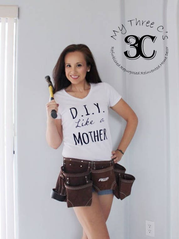 D.I.Y. Like a Mother, Like a Mother, White V Neck Tee