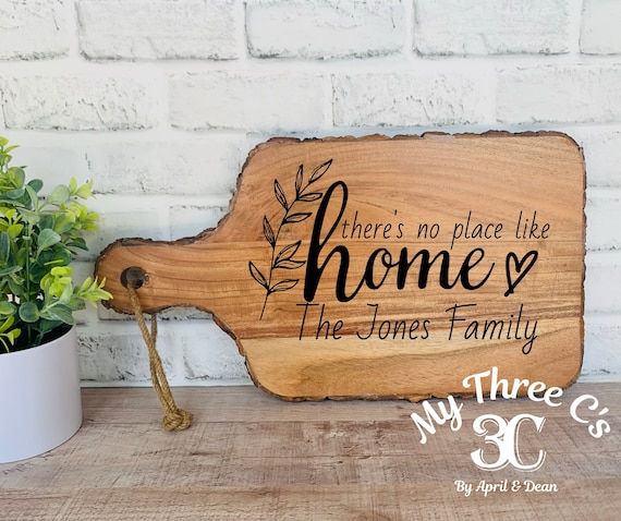 Personalized Cutting Boards |There's No Place Like Home | House Warming Gifts | Real Estate Closing Gifts | Laser Engraved | Customized