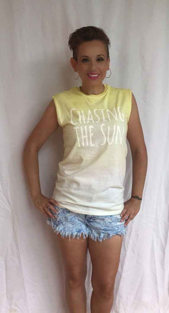 Chasing the Sun Yellow Ombre Tee