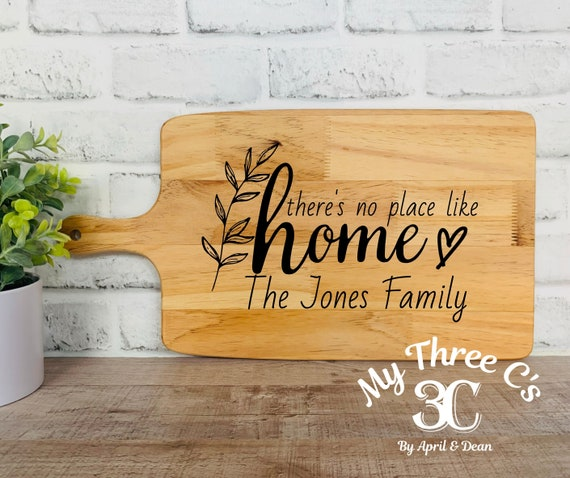 Personalized Cutting Boards | There Is No Place Like Home | House Warming | Real Estate Gifts | Laser Engraved | Customized Cutting Board