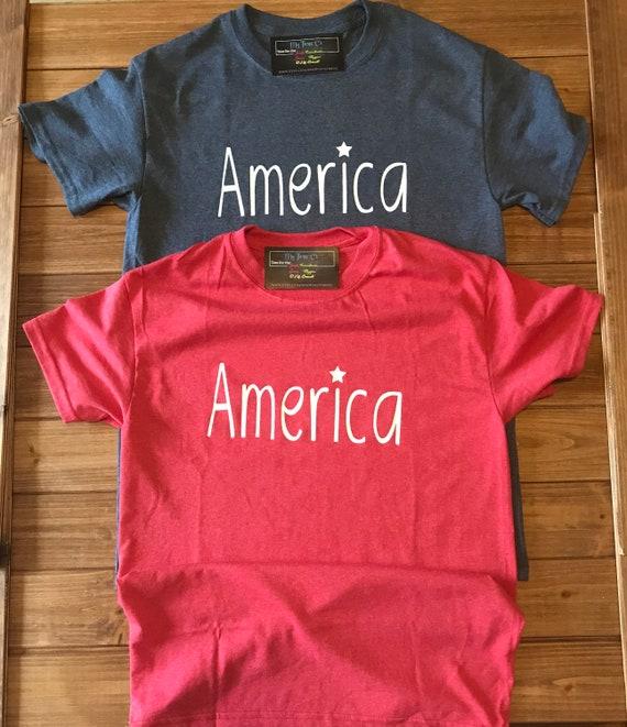 America Patriotic Tee, 4th of July Shirt
