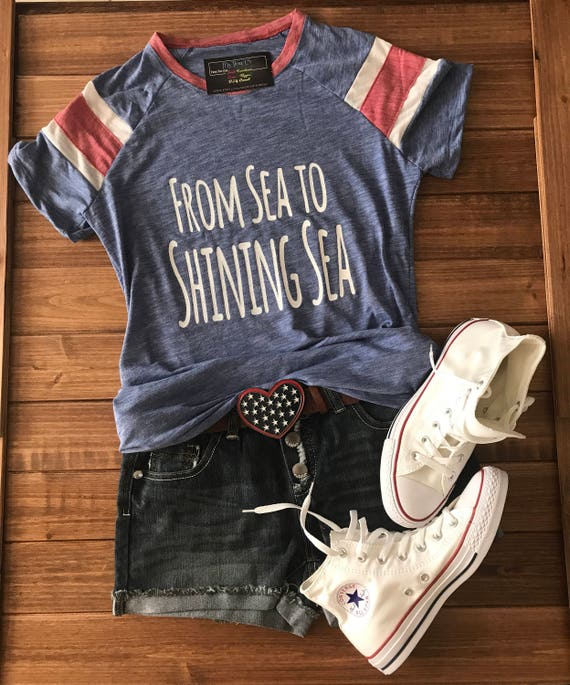From Sea to Shining Sea Patriotic Tee