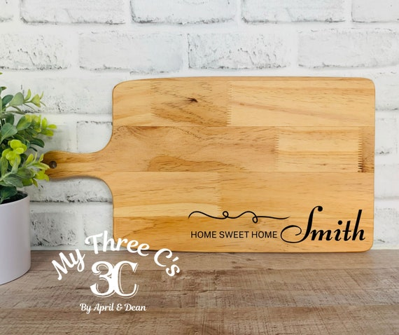 Personalized Cutting Boards |Home Sweet Home| House Warming Gifts | Real Estate CGifts | Laser Engraved | Customized Cutting Board