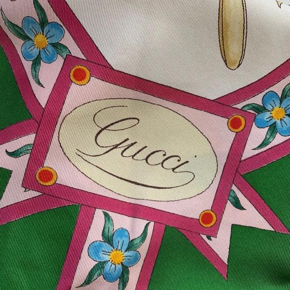 Vintage 70s Gucci Accornero silk scarf! - image 9