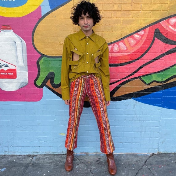 Tiny 60s Psychedelic Print Pants! - image 1