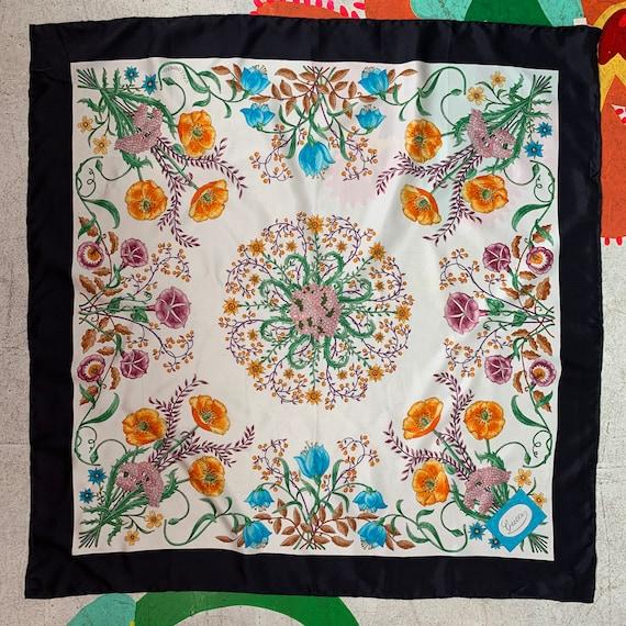 Vintage 70s Gucci Accornero Flora Silk Scarf! - image 2
