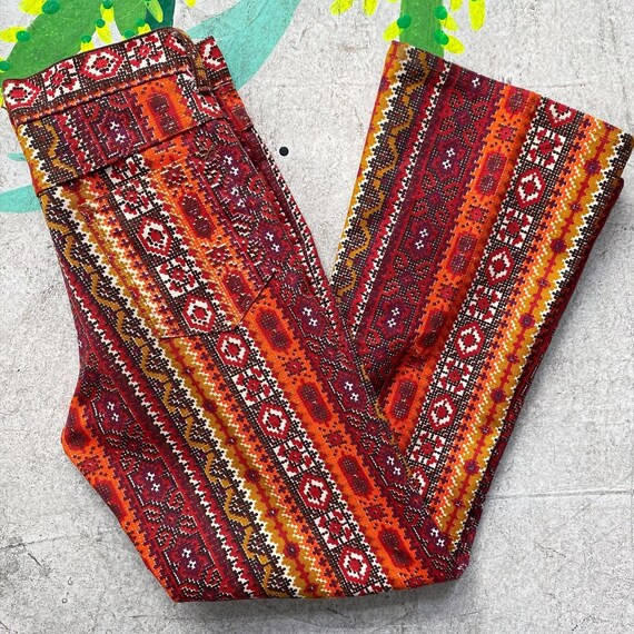 Tiny 60s Psychedelic Print Pants! - image 7