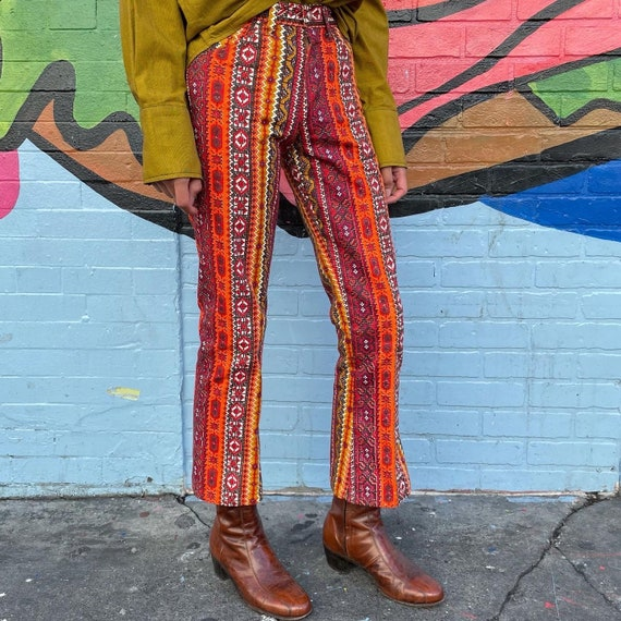 Tiny 60s Psychedelic Print Pants! - image 4