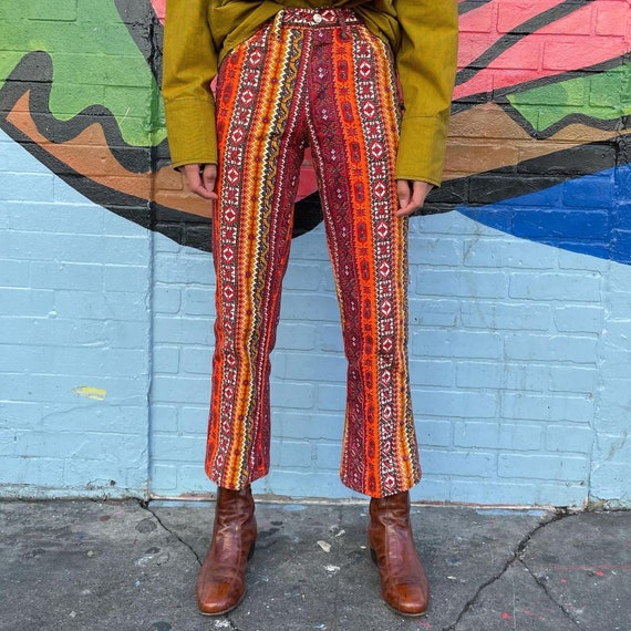 Tiny 60s Psychedelic Print Pants! - image 2