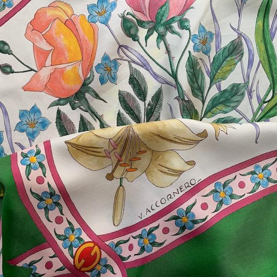 Vintage 70s Gucci Accornero silk scarf! - image 4