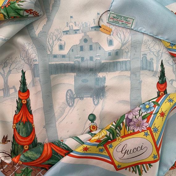 Vintage 70s Gucci Accornero Christmas Scarf! - image 1