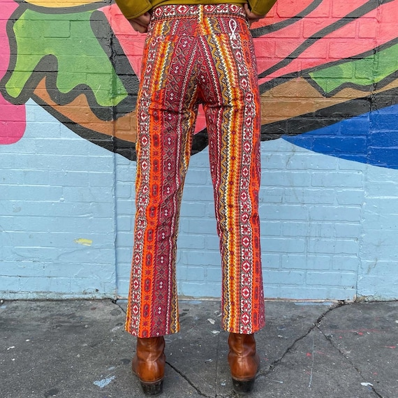 Tiny 60s Psychedelic Print Pants! - image 5