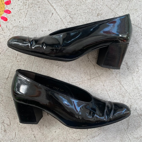 1980s Patent Leather Robert Clergerie Pumps