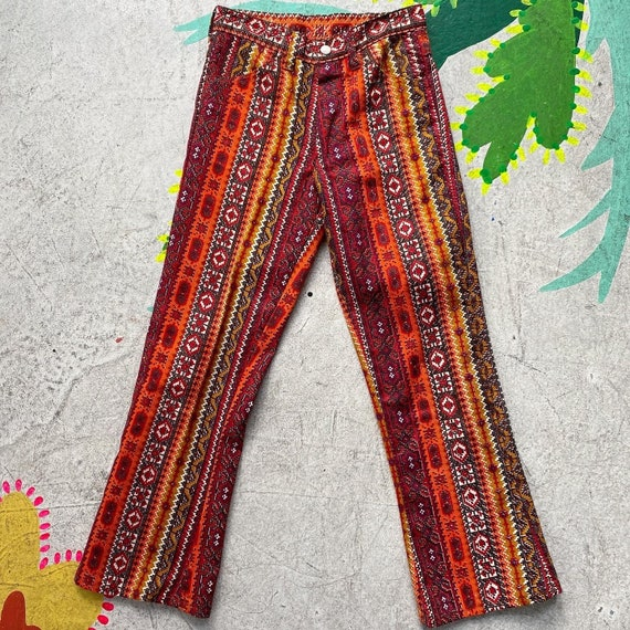 Tiny 60s Psychedelic Print Pants! - image 6