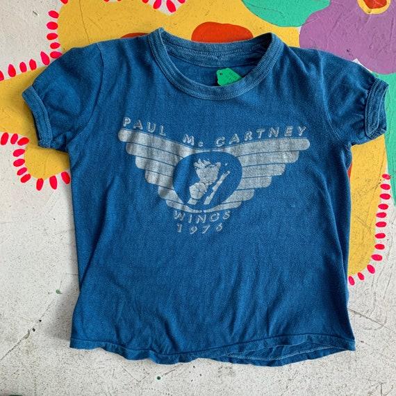 Vintage 1976 Paul McCartney Wings Baby Tee!!