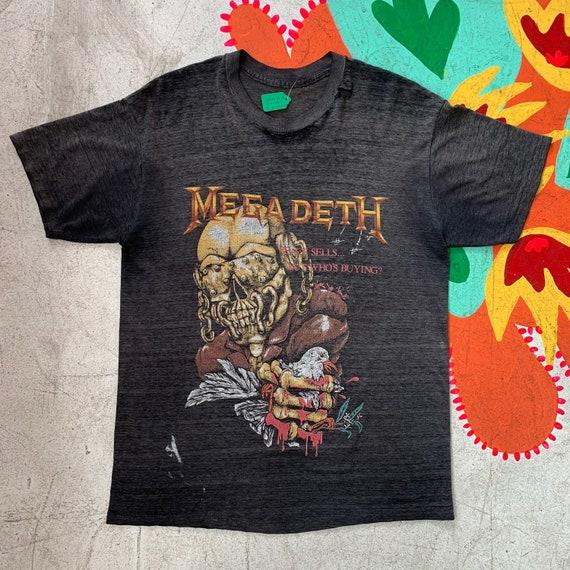 "Vintage Megadeth 1987 ""Wake-Up Dead"" Tour Tee SIGN"