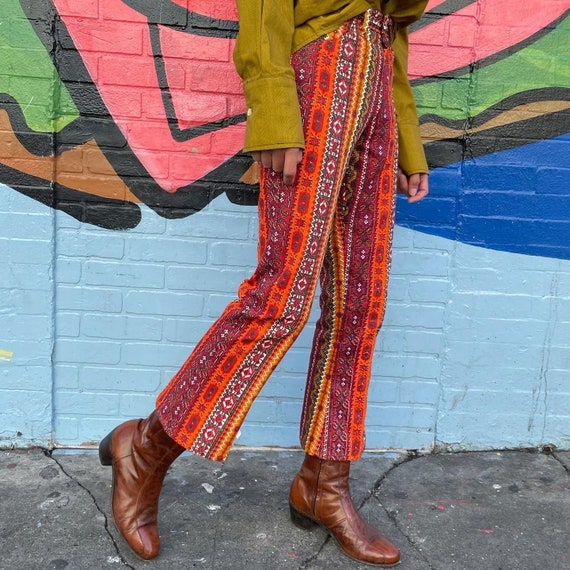 Tiny 60s Psychedelic Print Pants! - image 3