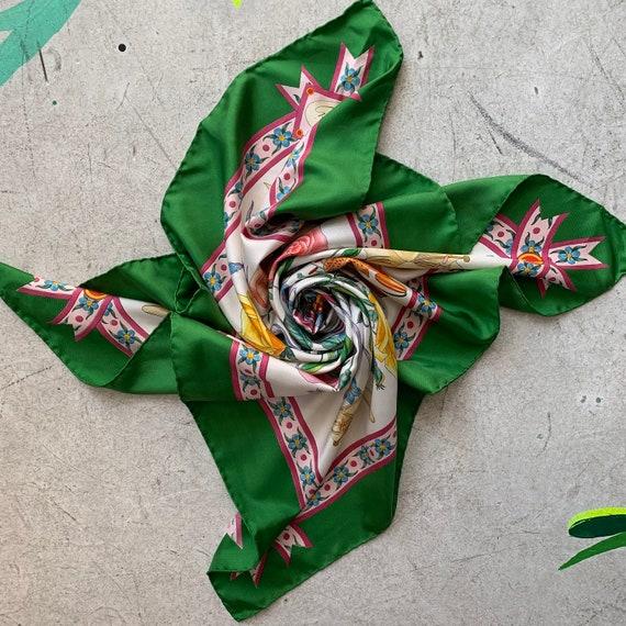 Vintage 70s Gucci Accornero silk scarf! - image 3