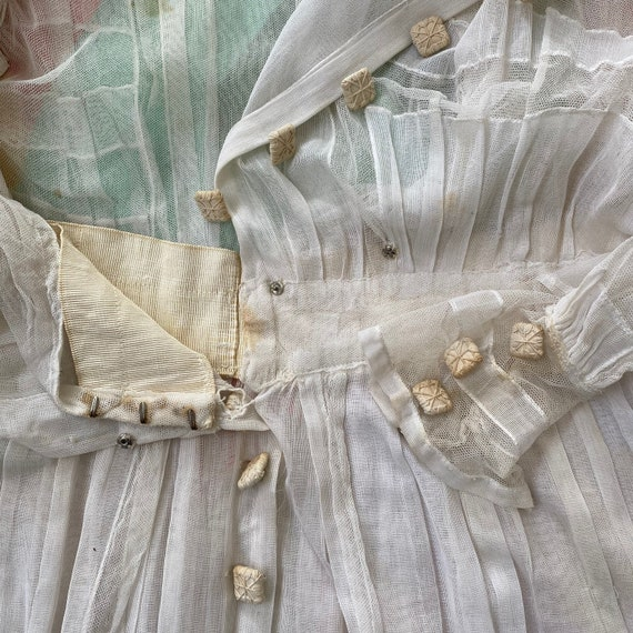 Antique Victorian Edwardian White Cotton Batiste … - image 10