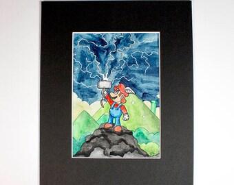 Mario Thor - Matted Original Drawing
