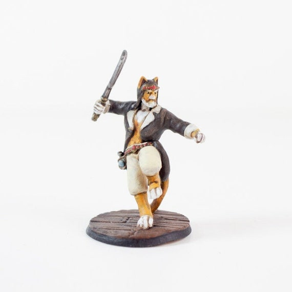 Tabaxi Rogue Fighter Hand Painted Miniature Etsy Tabaxi rogue (dnd) pls critique. tabaxi rogue fighter hand painted miniature