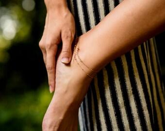 Layering ankle bracelet/ rose gold anklet/ dainty rose gold leg chain