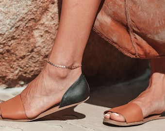 Rose Gold Ankle bracelet/ Anklet in 14k  rose gold/ Foot chain jewelry/ Foot bracelet jewelry