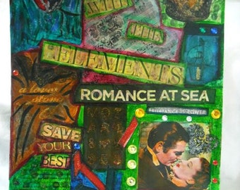 Romance - Mixed Media Gone With The Wind Fine Art Print - 9x12