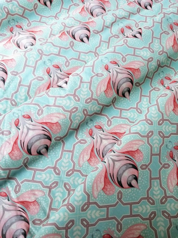 Bumble Bee OOP Bumble cotton fabric Jade by Tula Pink