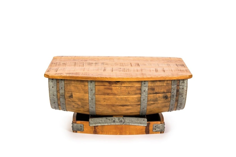 Wine Barrel Coffee Table.Half Wine Barrel Coffee Table